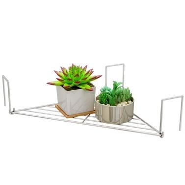 Cubicle Corner Shelf Space-Saving Office Sundries Storage Rack Floating Organizer Flower Pots Caddy Triangle Steel Wire Grid Rack