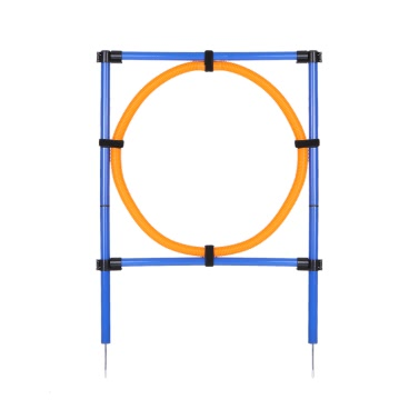 Outdoor Pet Dog Agility Exercise Sports Obedience Show Training Equipment Dogs Activity Hoop Jump Game Agility Exercise Pole Set Carrying Case