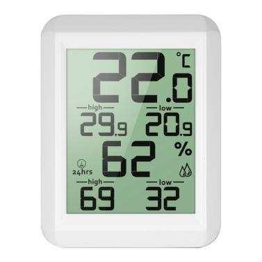 Mini-LCD-Digital-Innen-Thermometer Hygrometer-Raum ° C / ° F-Temperatur-Feuchtigkeits-Monitor-Messgerät Thermo-Hygrometer mit Rückseiten-Stand