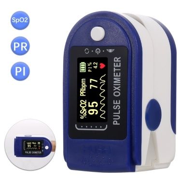 Fingertip Pulse Oximeter Mini SpO2 Monitor Oxygen Saturation Monitor Pulse Rate Perfusion Index Measuring Gauge Device 5s Rapid Reading with Lanyard