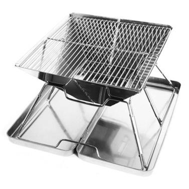 Holzkohlegrill Faltbarer BBQ Grill Tragbarer Edelstahl