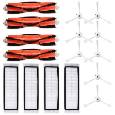 Roboterstaubsaugerfilter Seitenbürsten Hauptbürstenkit 16-tlg. Ersatzzubehör für XIAOMI Roborock S55 S50 S51 Roboterstaubsauger
