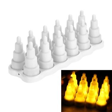 Wiederaufladbare Teelichter Weihnachtsgeschenk flammenlose drahtlose LED Kerzen Lichter für Hochzeitsfeier