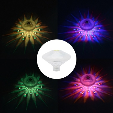 Subaqueous Hot Spring Swimming Pool Multicolor Waterproof Energy Saving Floating Light-Emitting Diode Lamp