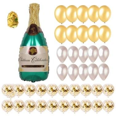 42PCS Champagne Balloons Party Decorations Set