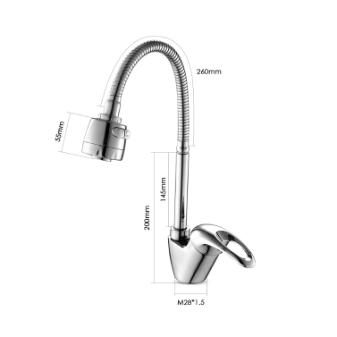 Frap Copper Water Faucet High-end Single Handle Deck-mounted Faucet Basin Hot and Cold Water Mixer Tap