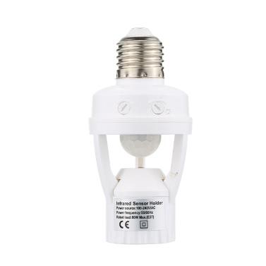 Buy 360 Degree Detection PIR Infrared Motion Sensor E27 LED Light Lamp Base Holder Bulb Socket Day & Night 2 Modes