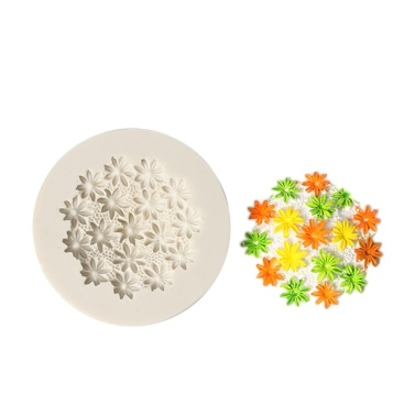 1 Pcs Flower Shape Silicone Fondant Mold Chocolate Molds for Cake Decorating Sugarcraft Resin Polymer Clay