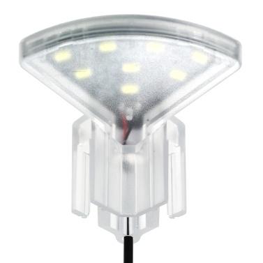 USB Aquarium LED Fan-shaped Clamp Lamp with 8pcs High Light SMD5730 LEDs Fish Tank White Light