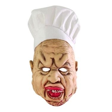 Tragbare wasserdichte Bloody Crazy Chef Halloween Horror Maske