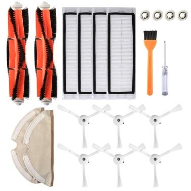 Roboter-Staubsauger-Filter Seitenbürsten Hauptbürsten-Kit 20-tlg. Ersatzzubehör für XIAOMI Roborock S55 S50 S51 Roboter-Staubsauger