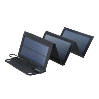 Faltbares 20-W-Solarladegerät mit 2 USB-Anschlüssen Wasserdichtes Camping Travel Kompatibel für iPhone- und Android-Smartphones