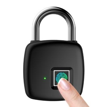 10 Sätze Fingerabdrücke Smart Fingerprint Padlock 300mAh wiederaufladbares schlüsselloses Schloss