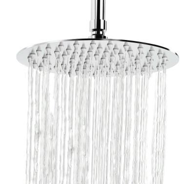 8 Inch Round Rain Showerhead G1/2 High Pressure Shower Head Bathroom Swivel Shower Head Spray Showerhead