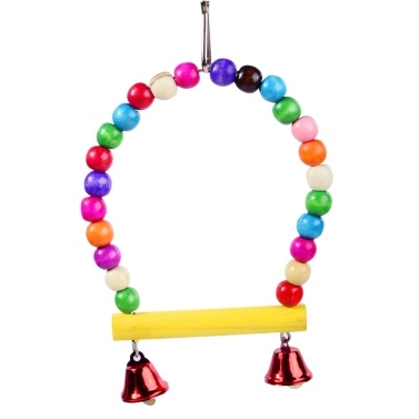 6PCS Bird Swing Chewing Toys Parrots Chewing Hanging Perches