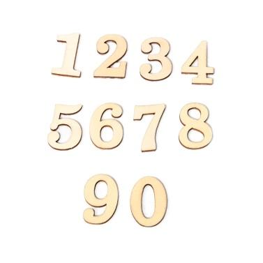 JM01483 Wooden ZAKKA Crafts Environmental Protection DIY Numbers Decoration