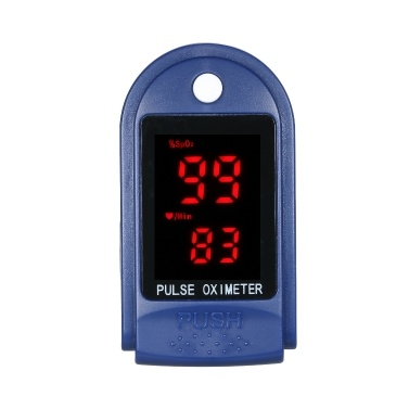 Fingertip Pulse Oximeter Blood Oxygen Saturation Monitor with Silicone Cover Lanyard