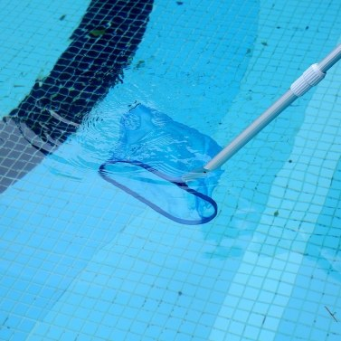 Swimming Pool Rake Skimmer Net Heavy Duty Deep-Bag Fits Most Standard Pole for Cleaning Swimming Pools,Hot Tubs,Spas and Fountains