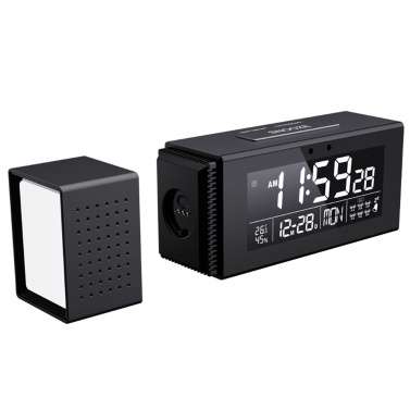 Digital Alarm Clock with 7 Color Night Light