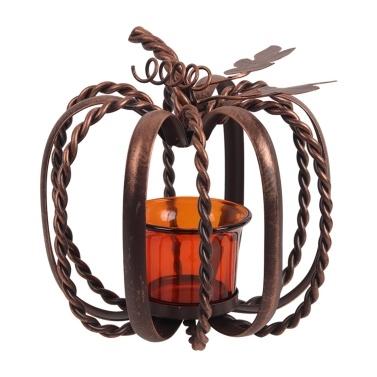 Halloween Pumpkin Candlestick Holders