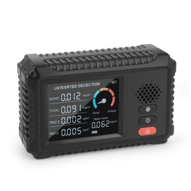 Multifunktionaler Luftqualitätsmonitor Formaldehyddetektor TVOC PM2.5/PM10 Tester Echtzeit-Datenüberwachung