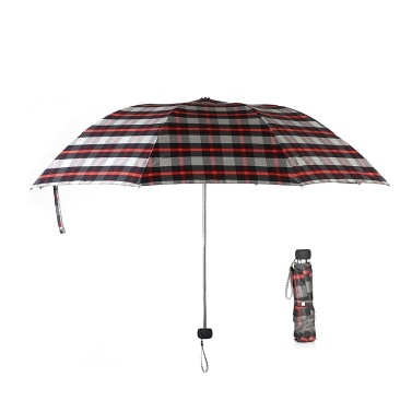 Lightweight Triple Folding Rain Sun Umbrella