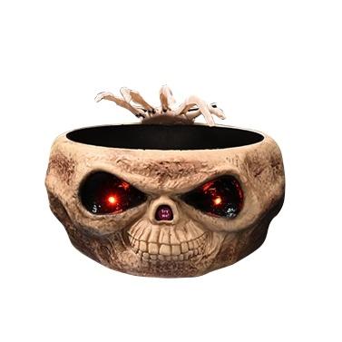 Halloween-elektrischer Kompott-Schädel-Greifer-Süßigkeits-Behälter