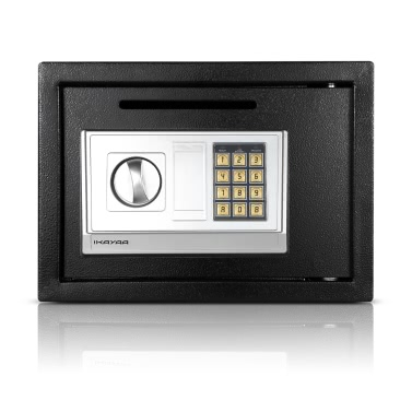 IKayaa Stahl Digital Elektronische Safe Box Bargeld Schmuck Gun Security Keypad Lock für Home Office Hotel + Montage Kits