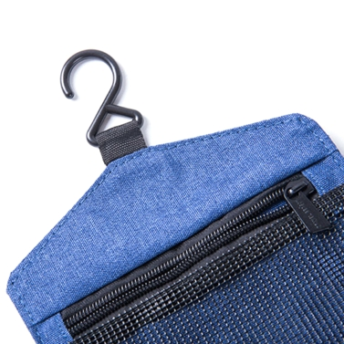 Portable Waterproof Toiletry Bag Polyester Fold Travel Cosmetic Makeup Organizer Wash Shaving Zipper Suspension Bag accessorie Supplies Organizer (Black)