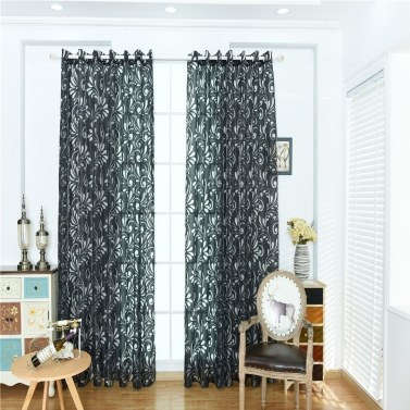 Home Use Phoenix Tail Pattern Curtain Window Gauze