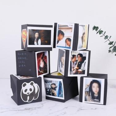 Kreative DIY Fotoalbum Explosion Sammelalbum Bouncing Box Favor Box für Jahrestag Geburtstag Überraschungsparty Geschenk