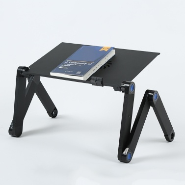Aluminium Adjustable Laptop Stand Lightweight Laptop with 2 Cooling Fans and Mouse Pad Sofa Couch Bed Tray