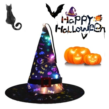 Hanging Halloween Hat Lighted Led Halloween Decorations