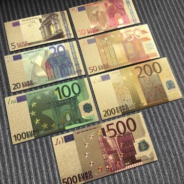 7PCS Replica Euro Souvenir Banknote Commemorative Banknotes Realistic Fake Play Money