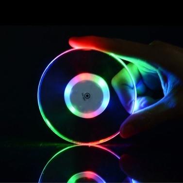 Acryl ultradünne LED-Untersetzer runde Form leuchtende Untersetzer Cup Mat