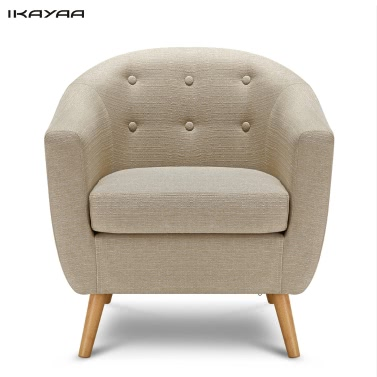 Ikayaa mid century linen fabric tufted living room accent for Jordan linen modern living room sofa