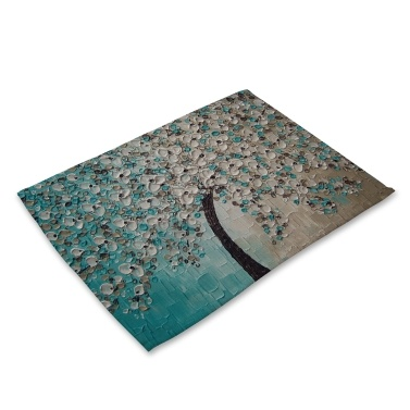 Oil Painting Pattern Polyester Placemat