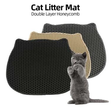 Katzenstreumatte Katzenstreumatte Honeycomb Double Layer Design für Katzenstreukästen