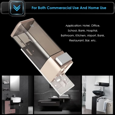 Anself CHUANGDIAN Manual Single Bottle Wall Mount Soap Dispenser 500ml Liquid Hand Cleanser Washroom Lotion Dispenser for Hospital Home Hotel Bathroom Office School Hotel