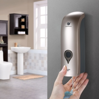 CHUANGDIAN 300ml Wandmontierter Einkopf-Seifenspender Duschgel Flüssiger Shampoo-Spenderhalter