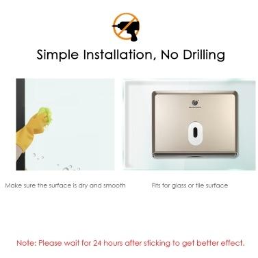 CHUANGDIAN Wandmontage-Tissue-Spender Tissue-Box-Halter Kein Bohren Installieren für Mehrfach-Papierhandtücher für die Toilette Küche Hotel Restaurant