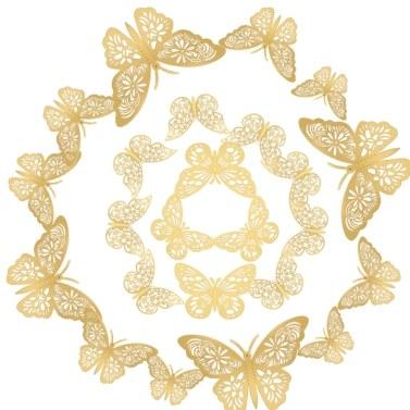 12pcs/set 3D Butterfly Wall Stickers