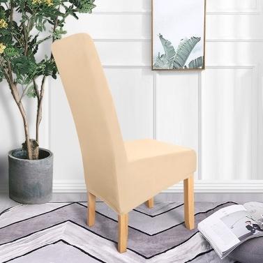 4 stücke Einfarbig Stuhlabdeckung Stretch Stuhl Protector Rutschfeste Abnehmbare Waschbar für Esszimmerstuhl Hotel Champagner