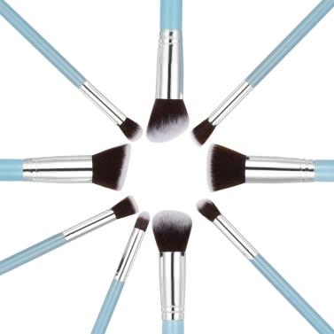 Holz 9Pcs Augenschminke Bürsten Make-up Pinsel Set professionellen Kosmetik Werkzeug Blaue