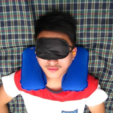 3in1 Travel Set Pillow + Eye mask + Earplugs