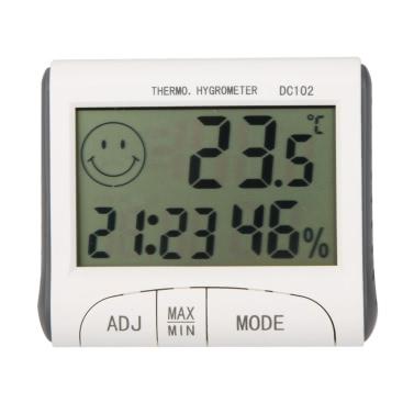 KKmoon LCD Digital Thermometer Hygrometer Temperatur und Feuchtigkeitsmessgerät Wecker w / Magnetische