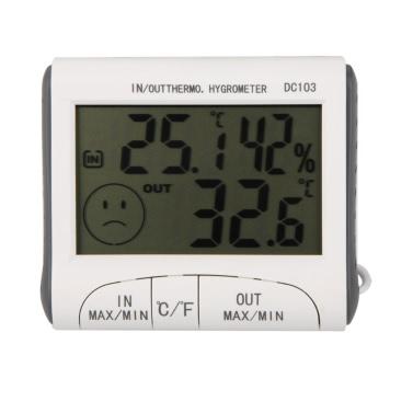 AGM Digital Thermometer Temperatur Hygrometer Feuchtigkeit Luftfeuchtigkeit Uhr