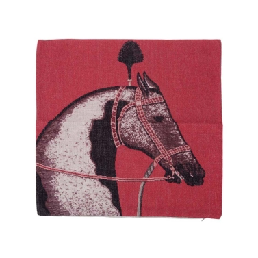 European Luxury Horse Cotton and Linen Pillowcase Back Cushion Cover Throw Pillow Case for Bed Sofa Car Home Decorative Decor 45 * 45cm