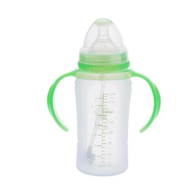 240ml Silikon Milch Flasche Nippel mit Griff für Baby Kleinkind