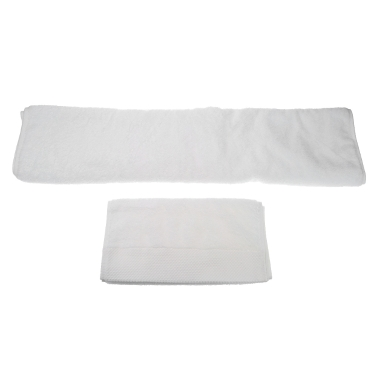 2pcs Simple Soft Pure White Cotton Bath Towels Set Drying Towel Washcloth for Hotel Home Use